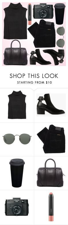 """""""Kendall Jenner Street STYLE"""" by fashionstylenoww ❤ liked on Polyvore featuring Helmut Lang, MANGO, Ray-Ban, Nudie Jeans Co., Givenchy, Holga, MAC Cosmetics, StreetStyle and kendalljenner"""