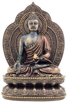 Medicine Buddha - Buddha of Healing Statue Sculpture @ KnowFengShui.com