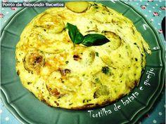Ponto de Rebuçado Receitas: Tortilha de batata e queijo