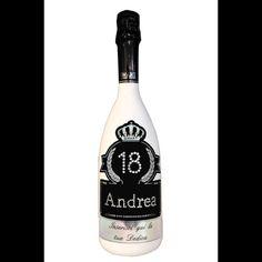 Bottiglia di spumante Astoria con età, nome del festeggiato e dedica personalizzata!