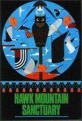 Charley Harper poster Hawk Mountain Sanctuary