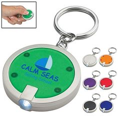Promotional Round Squeeze LED Key Chain  keychains  advertising   promoproducts  384bc96c8