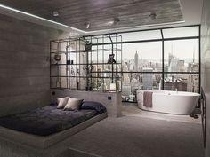 Technology: the focus in #bathroom design by Noken. Interior Design for hotels Porcelanosa Bathrooms