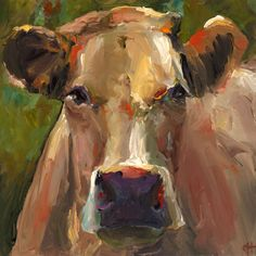 Cow Painting - Natasha  - Print of an Original Acrylic Painting