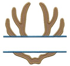 Split Antlers Applique - 3 Sizes! | Font Frames | Machine Embroidery Designs | SWAKembroidery.com Applique for Kids