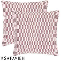 @Overstock - Accent your bed or living room furniture with these red decorative pillows. They come in a set of two and feature a red pattern against a white background. A hidden zipper will make it easy to remove the covers to take to your local dry cleaner.http://www.overstock.com/Home-Garden/Manhattan-22-inch-Red-Ivory-Decorative-Pillows-Set-of-2/5902975/product.html?CID=214117 $43.21