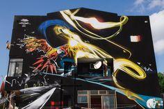 "#Streetart: new wall by #ManuInvisible & #Frode in #Cagliari for ""#IsMurusu de Santa Teresa"""