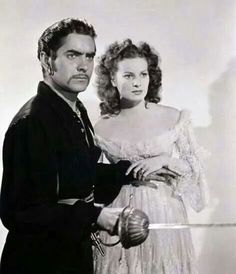 Tyrone Power and Maureen O'Hara, The Black Swan 1942.