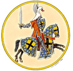Gilles de Rais, in 1429 the king of France granted him a orle of the arms of France.