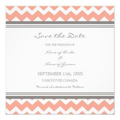 Blue Coral Wedding Save the Date Card