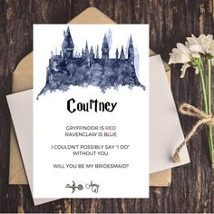 Harry Potter Bridesmaid Proposal Card   Will You Be My Bridesmaid   Maid of Honor Card   Harry Potter Bridal Shower by CoupeDePapier on Etsy