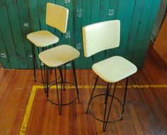 Bar Stool Set Wrought Iron Hairpin Leg Stools with by BingoBox, $290.00