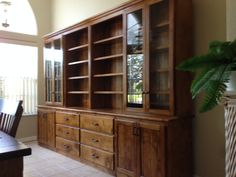 Dining room hutch made from alder. By Terry's Custom Woodworking