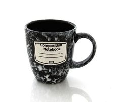 I could not love this more. Seriously. :: Composition notebook mug by LennyMud