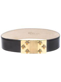 Alexander Mcqueen bee and gem studded belt