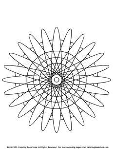 Evil Eye mandala abstract free printable coloring page