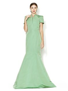 Cap Sleeve Mermaid Gown by Zac Posen at Gilt