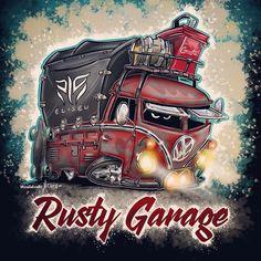 Volkswagen Bus, Vw T1, Car Illustration, Illustrations, Kombi Pick Up, Combi Vw, Dad Tattoos, Jada Toys, Graffiti Drawing