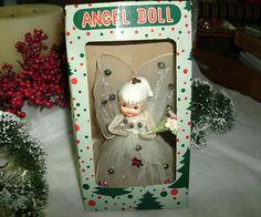 VINTAGE HOWARD HOLT CHRISTMAS ANGEL DOLL TREE TOPPER, TULLE DRESS & WINGS, BOX | eBay