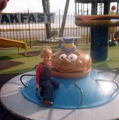 Remember these old McDonald play land things?!  I remember the french fry guys on a spring thing.