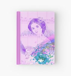 #VintageFanLady #SheetMusic #Colorsplash #HardcoverJournal by #MoonDreamsMusic