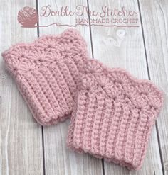 Shelly Ribbed Crochet Boot Cuffs - Toddler or Child Size