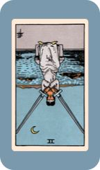 Deck: The Classic 1910 Tarot, www.foolsdog.com/Classic1910 Spread: Card of the Day Date: Oct 20, 2016   Today's Card Two of Swords (Reversed) ---------- Upright: Tension in relationships, balanced force, harmony, stalemate, change, initiation, a challenge.  Reversed: Release, movement, impostors, sympathy, duplicity, disloyalty.    Posted using The Classic 1910 Tarot app for iPhone & iPad, www.foolsdog.com/Classic1910