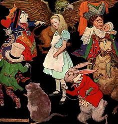 january 27, lewis carroll born in 1832 (illustration by peter newell, 1923)