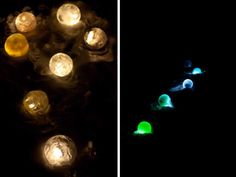 Frozen Luminary Spheres!  Supplies:  - Balloons – any size – Huge ones would be awesome! - Water - Colored dye, optional - Click lights/Candles
