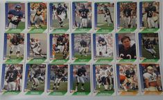 1991 Pacific Chicago Bears Team Set of 21 Football Cards #ChicagoBears