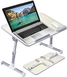 Foldable Portable Table Adjustable Tray Laptop Desk Home Bed Office Dinner TW UK