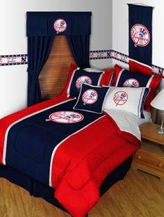 New York Yankees Baseball Team Twin Bedding Set
