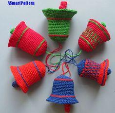 Ganchillo patrón colorido Navidad campanas-pdf archivo 14