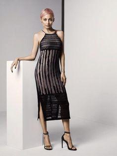 2dd4a456c8b7 Or Hmm…: Nicole Richie's Twitter House Of Harlow 1960 Ebony Halter Neckline  Sheer Double Side Slit Dress (The Fashion Bomb Blog)