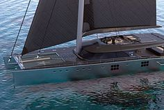 Yachts à voile - Sunreef Yachts Catamaran Design, Catamaran Charter, Sailing Catamaran, Yacht Boat, Yacht Design, Sailing Gear, Sailing Ships, Sunreef Yachts, Houseboat Living