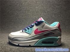 timeless design c1f4b 0da1d Nike Air Max 90 Shoes For Ladies Gray Purple Mint Green 724852-102 Air Max