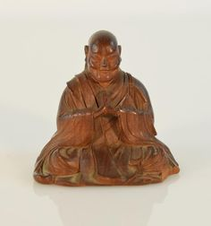 """18th cen, Edo period, very detailed carving, measures 2.5""""h"""