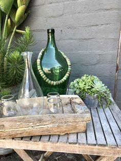 KS Wood Tray Seaside Home Decor, Wood Tray, Glass Vase, Products, Seaside Cottage Decor, Beauty Products