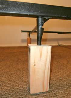 wood furniture / bed risers, from 2 to 5.5 inches, handmade, set