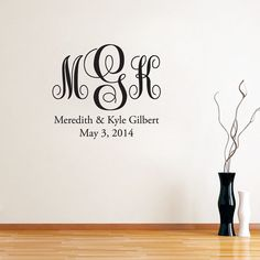 Fancy Wedding Monogram  Wedding Vinyl Wall by SweetumsSignatures, $16.00