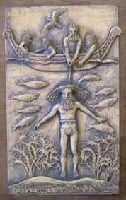 The Gilgamesh Epic of ancient Sumeria tells of Gilgamesh's search for the meaning of life. Gilgamesh was told the plant of eternal life lay at the bottom of a certain lake.        After retrieving the plant Gilgamesh rests.  A snake comes and eats the plant. The snake becomes immortal and Gilgamesh goes home to die