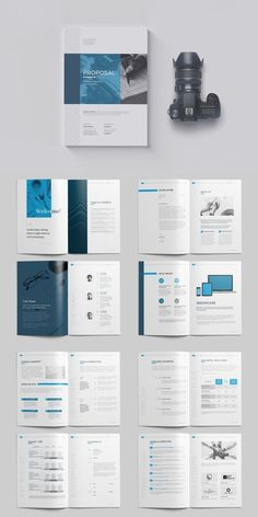 Proposal Templates for Adobe InDesign - Visual Arts & Identity Booklet Design Layout, Page Layout Design, Word Template Design, Word Templates, Presentation Layout, Indesign Templates, Project Proposal Template, Proposal Templates, Free Business Proposal Template