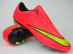 aa34c3544a4 Advertisement(eBay) Nike Mens Rare Mercurial Vapor X FG 648553 690 Pink  Soccer Cleats