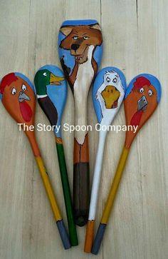 Story Spoons Puppets - Chicken Licken