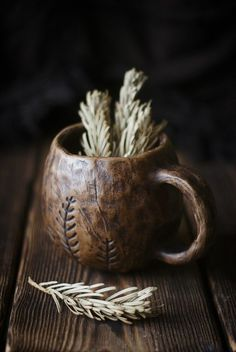 Rustic Charm, justanotherbadseed: A cup o' tea in the forest Wabi Sabi, Pottery Mugs, Ceramic Pottery, Ceramic Plates, Ceramic Art, Ceramic Design, Mabon, Witch Aesthetic, Brown Aesthetic