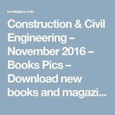 Ebook introduction to estimating for construction explains both the construction civil engineering november 2016 books pics download new books and magazines fandeluxe Gallery