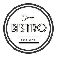 Retro/Vintage Grand Bistro Logo by GDesignzcanada on Etsy