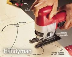 Woodworking Jigsaw How to Use a Jigsaw - Use a versatile jigsaw tool to cut lumber, plywood, metal and tile. Woodworking Jigsaw, Learn Woodworking, Woodworking Plans, Woodworking Projects, Plywood Projects, Workbench Plans, Woodworking Joints, Wooden Projects, Welding Projects
