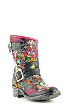 Womens Old Gringo Klak Biker Boots Black #L1385-1 via @Chris Cote Allen sutton Boots