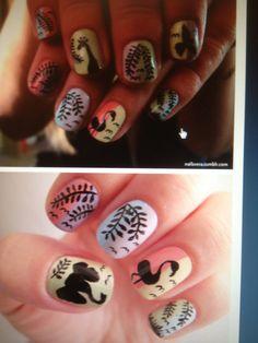 Zoo nail art